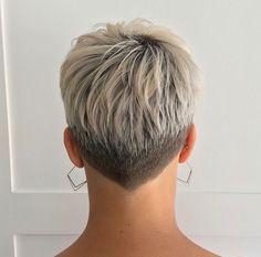 35 Best Short Pixie Haircuts For 2019 - - Hair Beauty - Qoster Short Hair Back, Short Grey Hair, Very Short Hair, Short Hair Cuts For Women, Short Hair Undercut, Short Pixie Haircuts, Cute Hairstyles For Short Hair, Curly Hair Styles, Undercut Pompadour