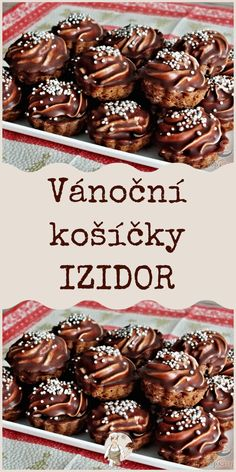 Vánoční košíčky IZIDOR Easy Christmas Cookie Recipes, Christmas Sweets, Christmas Baking, Baking Recipes, Cake Recipes, Dessert Recipes, Sweet Desserts, Sweet Recipes, Mini Cakes
