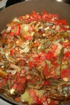 Remove smoke herring from package and soak for 45 minutes in boiling water. - Recipe Main Dish : Trinidad smoked herring by Thecupcakecriminal Trinidadian Recipes, Guyanese Recipes, Haitian Food Recipes, Jamaican Recipes, Fish Recipes, Indian Food Recipes, Seafood Recipes, Carribean Food, Caribbean Recipes