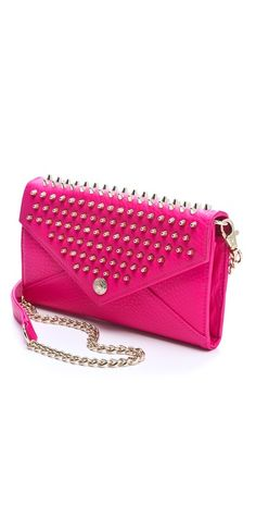 Rebecca Minkoff - Wallet Bag on a Chain with Studs