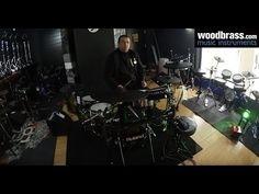 Test Woodbrass : Roland V-Drums TD-50K - YouTube