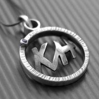 Bespoke initial sterling silver pendant #LWSilver #jewellery #blackonyx #style #mens #mensjewellery #silver http://lwsilver.com/index.php/mens/initial-necklace/