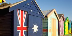 Beach huts at Brighton Beach, one with an Australian flag painted on it. Instagram Vs Real Life, Happy Australia Day, Australian Flags, Flag Painting, Anzac Day, Rock Pools, The Beautiful Country, Flags Of The World, Brighton