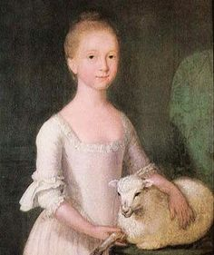Girl with a Lamb, 1770, Cosmo Alexander (1724-1772).