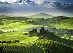 Toscane en Umbrie in Italie, nog eens te doen met de Vespa, met de kids achterop... Nog 'n paar jaar geduld!