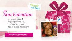 Per San valentino, scegli un dono che si faccia ricordare per davvero. Scegli un'ecard Regali per la vita UNICEF.  http://regali.unicef.it/index.php/san-valentino