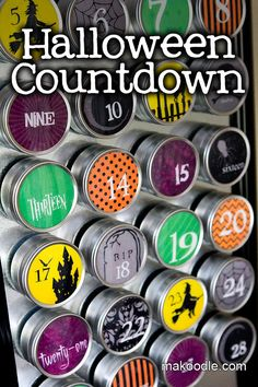 Halloween Countdown. My kids and I want to do this. Then you could put in a slip of paper in each container saying what you will do to celebrate Halloween that day! What a fun way to countdown!