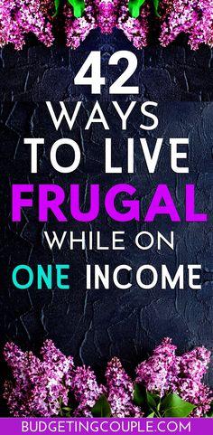 ways to save money frugal living Best Money Saving Tips, Ways To Save Money, Saving Money, Money Tips, Mo Money, Money Hacks, Investing Money, Frugal Living Tips, Frugal Tips