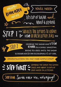 Create a Type Based Lemonade Recipe Poster « Design Cuts
