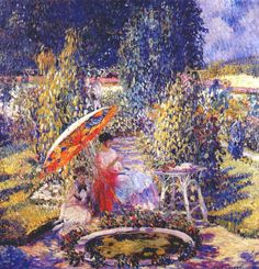 The Garden Umbrella, Frederick Frieseke