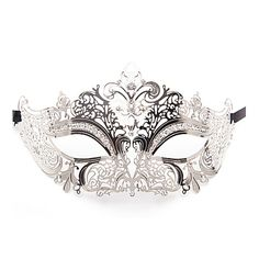 Masquerade masker prinses - zilver