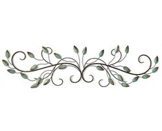 Decorate your home with a delicate touch with the Stratton Home Decor Patina Scroll Leaf Wall Art. Artfully made from metal, this elegant scroll design has a green patina finish, creating a vintage effect on your wall. Metal Wall Panel, Metal Wall Decor, Metal Walls, Wall Art Decor, Leaf Wall Art, Scroll Design, Traditional Decor, Interior Walls, Cool Walls