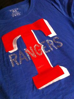 Blinged out Rangers shirt