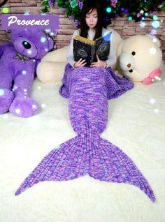FADFAY Mermaid Blanket Knitting Pattern Blanket Mermaid Tail Blanket Kids And Adults Style: Amazon.co.uk: Kitchen & Home