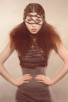 Bolero Lace Underbust Harness Vest Victorian Steampunk corset lace burning man playa wear. $105.00, via Etsy.