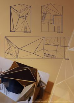 Memories .. Most difficult plans, sections, elevations drawings - folded structural system !
