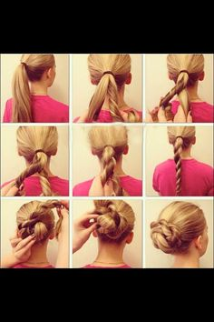 Easy Messy Hairstyle ❤