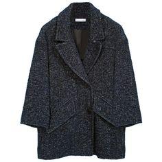 ETOILE ISABEL MARANT Diego Coat ($590) ❤ liked on Polyvore featuring outerwear, coats, jackets, coats & jackets, tweed coat, long sleeve coat, fur-lined coats, oversized coat and etoile isabel marant coat