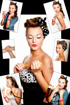 Rockabilly Fashion - Creative nail designs for your paws and claws. Rockabilly Style, Rockabilly Moda, Rockabilly Pin Up, Rockabilly Fashion, Retro Fashion, Vintage Fashion, Estilo Pin Up, Look Retro, Retro Pin Up