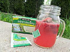 Not Your Average Bigelow Herbal Tea Recipes, Raspberry Mint Lemonade and Sore Throat Fighting Lemon Honey Herbal Tea #AmericasTea