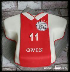 shirt taart Ajax shirt taart   Eigen creaties   Pinterest   Shirt cake and Cake shirt taart