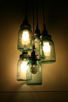 DIY Jar Pendant Light | Home Lilys