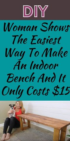 A couple from Minneapolis who goes by the name The Rehab Life, are here to show you how to make an indoor bench from scratch. #Indoor #Bench #$15 Quotes About New Year, Year Quotes, Diy Bench, Entryway Bench, Bridal Makeup Tips, Toffee Cake, Victorian Sofa, Making A Bench, Bedroom Crafts