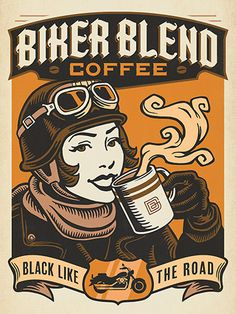 Cozy up to this collection of classic coffee art. You don't have to be a barista to show off your favorite morning ritual. Our hand-rendered illustrations will warm you up on a chilly day and give you an extra jolt to conquer that Coffee Logo, Coffee Poster, Coffee Art, Coffee Humor, I Love Coffee, Coffee Shop, Marketing Services, Pinterest Instagram, Motorcycle Art