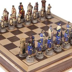 Crusade Chessmen  Battery Park Wooden Chess Board with Storage King 4 12 >>> You can find more details by visiting the image link.