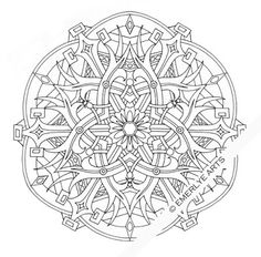 ...   Adult Coloring Pages, Mandala Coloring Pages and Coloring Pages  Detailed Mandala Coloring Pages For Adults