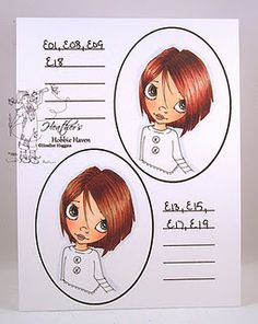 Hair color 5 - A great reference for hair coloring. :)Heather Huggins at Heather's Hobbie Haven