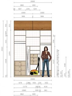 42 ideas for kitchen design large products Wardrobe Design Bedroom, Wardrobe Closet, Built In Wardrobe, Closet Bedroom, Wardrobe Ideas, Ikea Bedroom, Wardrobe Dimensions, Modular Wardrobes, Closet Layout