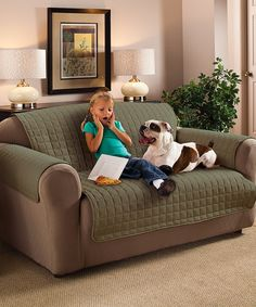Love this Sage Microfiber Furniture Protector by Jeffrey Fabrics on #zulily! #zulilyfinds