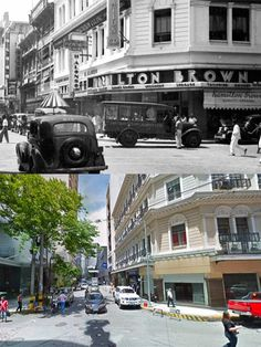 CALLE DE LA ESCOLTA or ESCOLTA  Location: Escolta, Manila Philippines Wayback 193O's Philippines Culture, Manila Philippines, Senior Citizen Humor, Philippine Holidays, Filipino Culture, Mindanao, Old Skool, Location, Street View