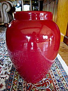 Large Ransbottom oil jar/floor vase. For sale at More Than McCoy at www.morethanmccoy.com