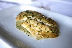Yellowtail snapper with lemon, parsley and butter