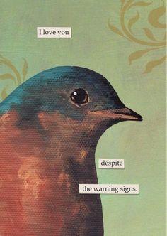 Warning Signs  GREETING CARD by MincingMockingbird