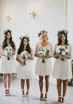 Awesome 63 Stylish White Bridesmaid Dresses For Your Wedding