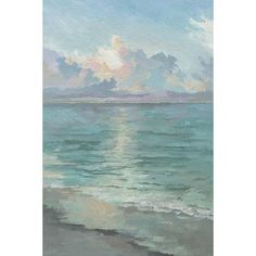 Invoke tranquility into your décor with the Marmont Hill Tranquil Waters Canvas Wall Art. Showcasing a serene seascape design, this touch of coastal charm is highlighted with pastel tones in abstract brushstrokes. Canvas Art Prints, Painting Prints, Canvas Wall Art, Watercolor Paintings, Impressionist Paintings, Beach Paintings, Beach Artwork, Tole Painting, Watercolor Techniques