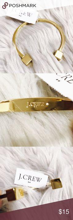 "NWT J. Crew Antique Golden Cuff Bracelet Product Details: - Brass wire. - Light gold ox plating. - Width: 2"". J. Crew Jewelry Bracelets"