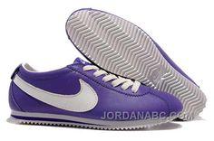http://www.jordanabc.com/nike-cortez-leather-women-shoes-dark-purple-white.html NIKE CORTEZ LEATHER WOMEN SHOES DARK PURPLE WHITE Only $76.00 , Free Shipping!