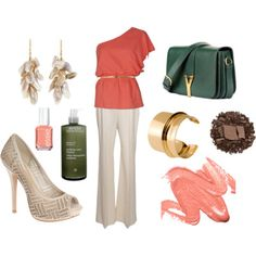 Coral and Green