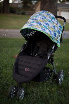 Stroller accessory // stroller accessories // Custom Britax B-Agile Canopy Cover by & Custom Made: Britax B-Ready stroller canopy u0026 Custom Comfort Set ...