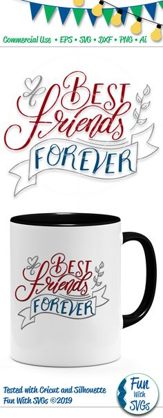 Best Friends Forever SVG Cut File