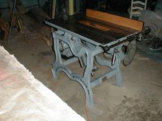 VintageMachinery.org - Photo Index - Beach Manufacturing Co. - Table Saw
