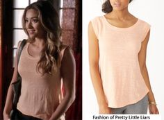 Alternative Apparel Getty Linen T-Shirt in Salmon - $28.00