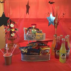 I did this for my son's birthday party Movie Themes, Party Themes, Movie Theater Party, 13th Birthday Parties, Teen, Entertaining, Awesome, Movies, Cinema Party