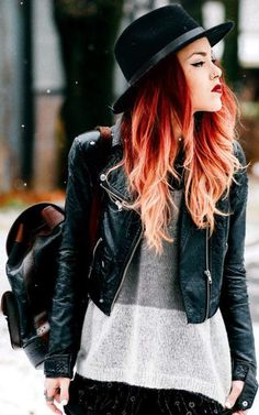 red ombre hair #8