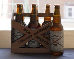 Old Cranky Madman Beer Co. by Hannah MacDonald, via Behance #beer #packaging