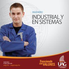 Estudiar Ingeniería Industrial y en sistemas en la #UAG serás un profesional que cuente con las herramientas y habilidades necesarias para contribuir a la modernización y competitividad de la producción industrial.